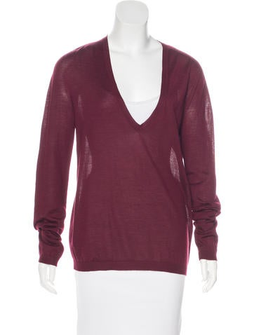 Jil Sander V-Neck Long Sleeve Sweater None