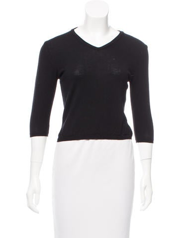 Jil Sander Wool V-Neck Sweater None