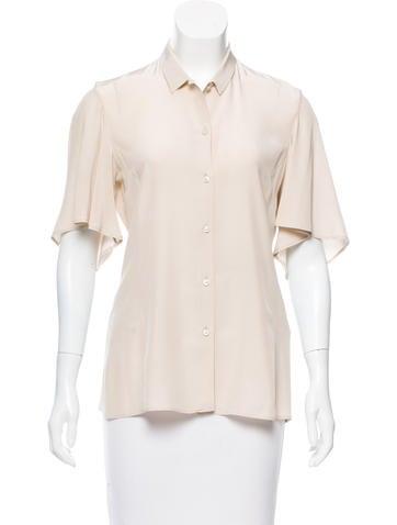 Jil Sander Silk Button-Up Top None