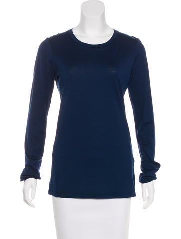 Jil Sander Woven Long Sleeve Top None