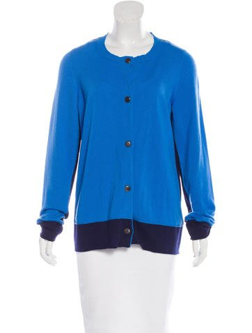 Jil Sander Cashmere Colorblock Cardigan None