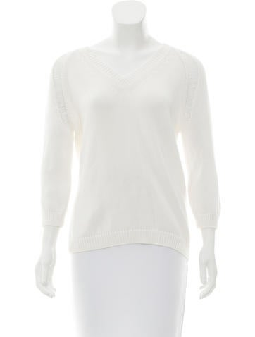 Jil Sander V-Neck Open Knit Sweater None