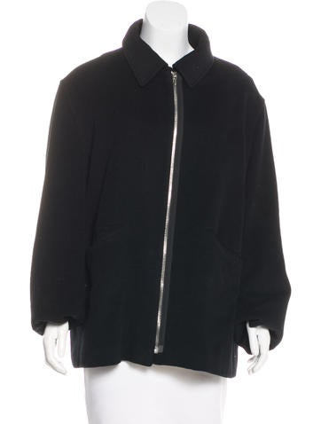 Jil Sander Cashmere Zip-Up Jacket None