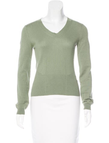 Jil Sander Rib Knit Cashmere Sweater None