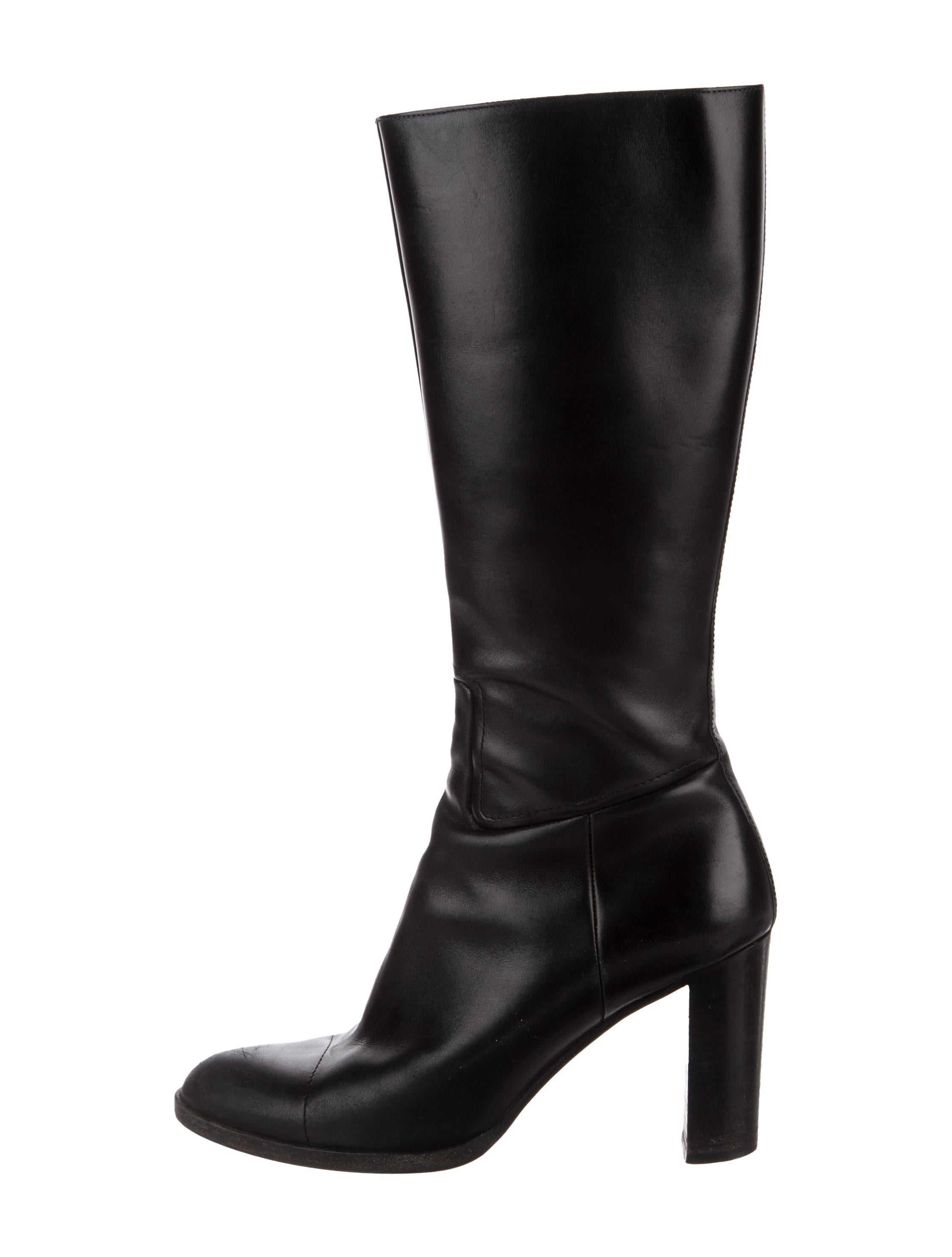 Jil Sander Leather Pointed-Toe Mid-Calf Boots outlet big discount buy cheap online find great for sale outlet fast delivery IsiODhYs0x
