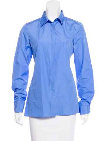 Jil Sander Long Sleeve Button-Up Top None