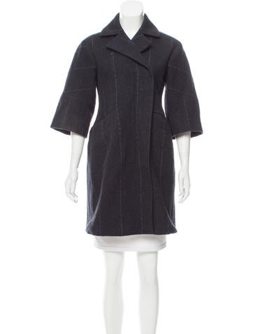 Jil Sander Three-Quarter Sleeve Wool Coat None
