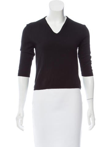Jil Sander Virgin Wool V-Neck Sweater None