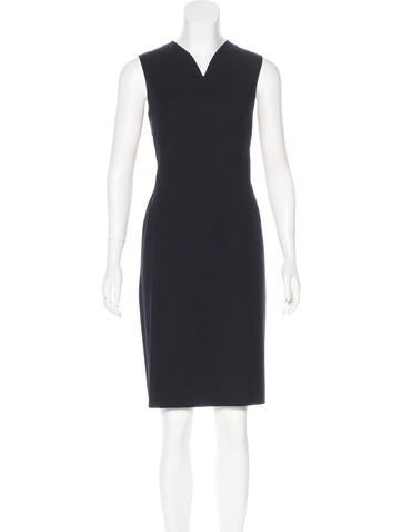 Jil Sander Sleeveless Knee-Length Dress None