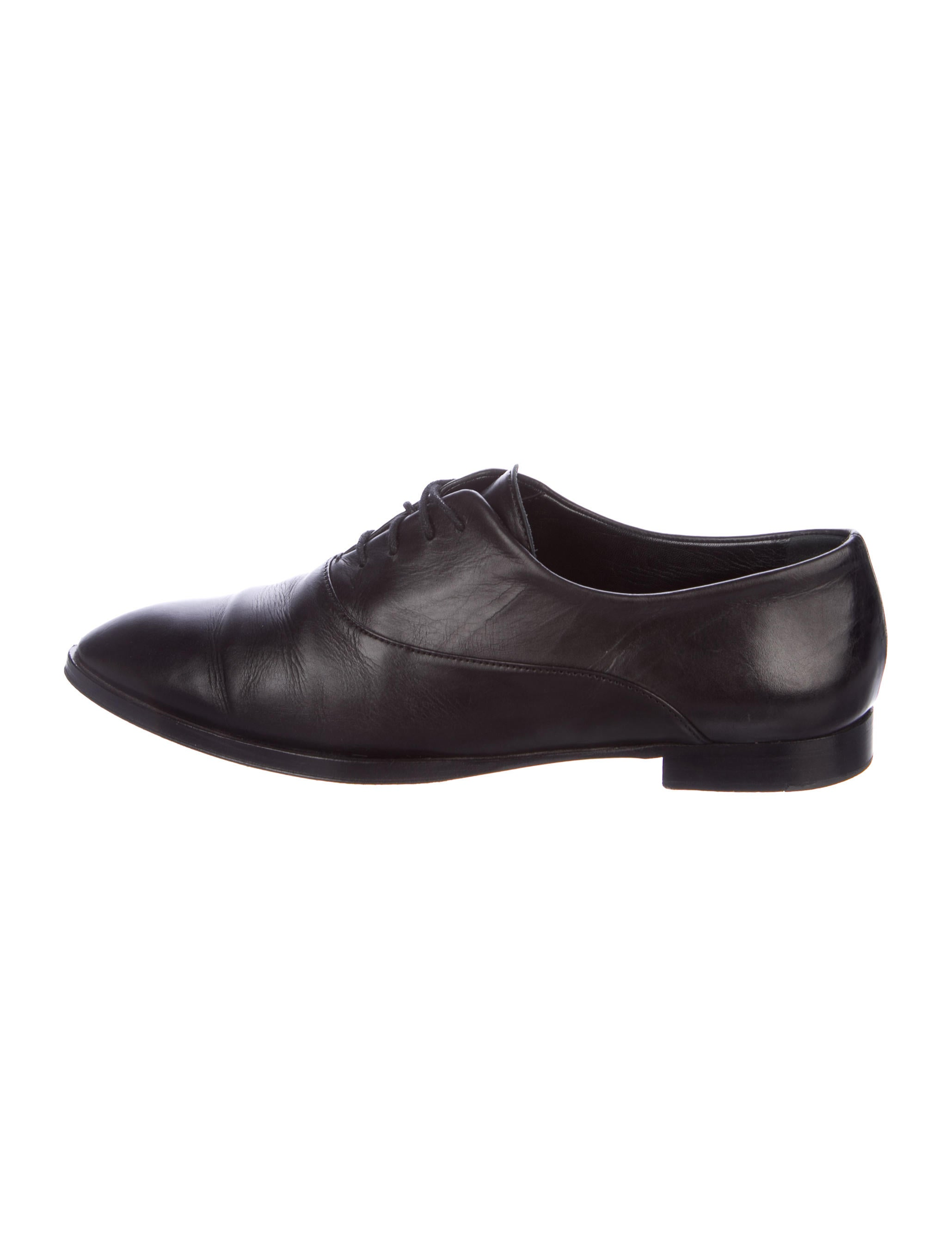 Jil Sander Leather Round-Toe Oxfords discount fashionable CxEYsqD