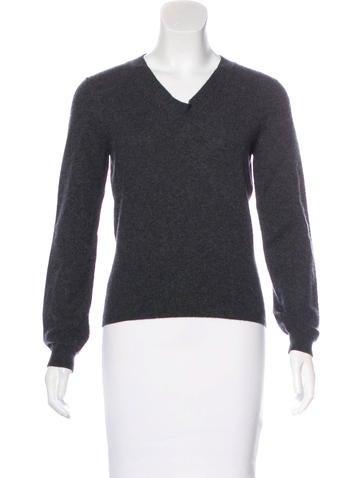 Jil Sander Long Sleeve V-Neck Sweater None