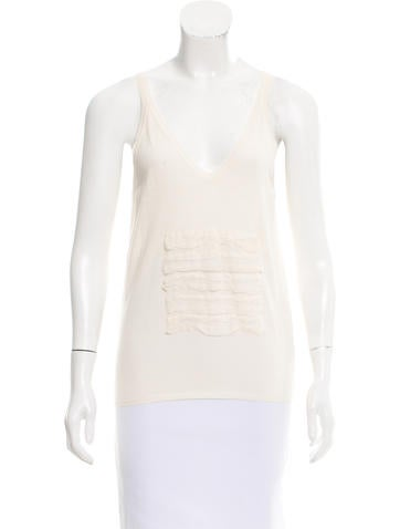 Jil Sander Silk-Accented Sleeveless Top None