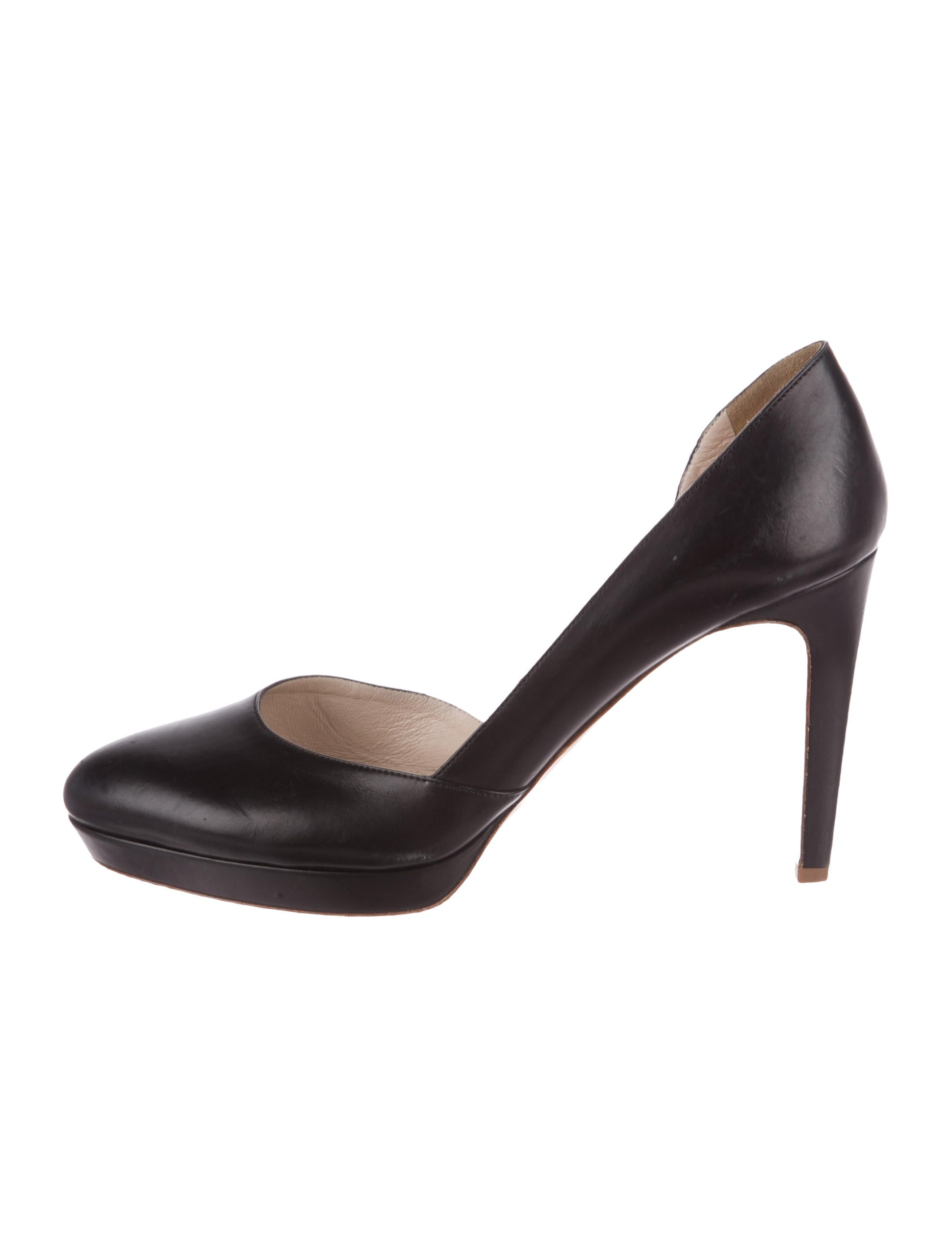 Jil Sander Leather D'Orsay Pumps outlet for cheap discount wiki professional cheap online QWp6ChnH