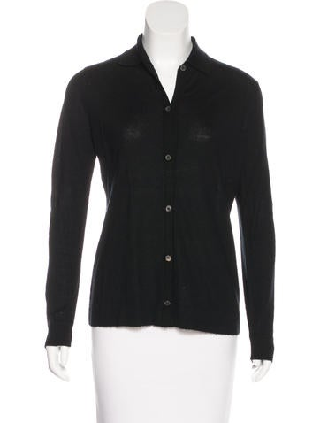 Jil Sander Cashmere Button-Up Top None