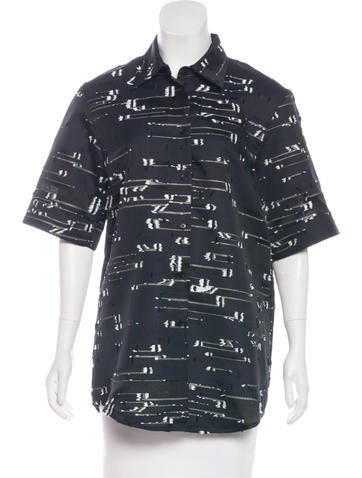 Jil Sander Short Sleeve Button-Up Top None