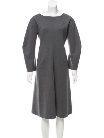 Jil Sander Wool Midi Dress None