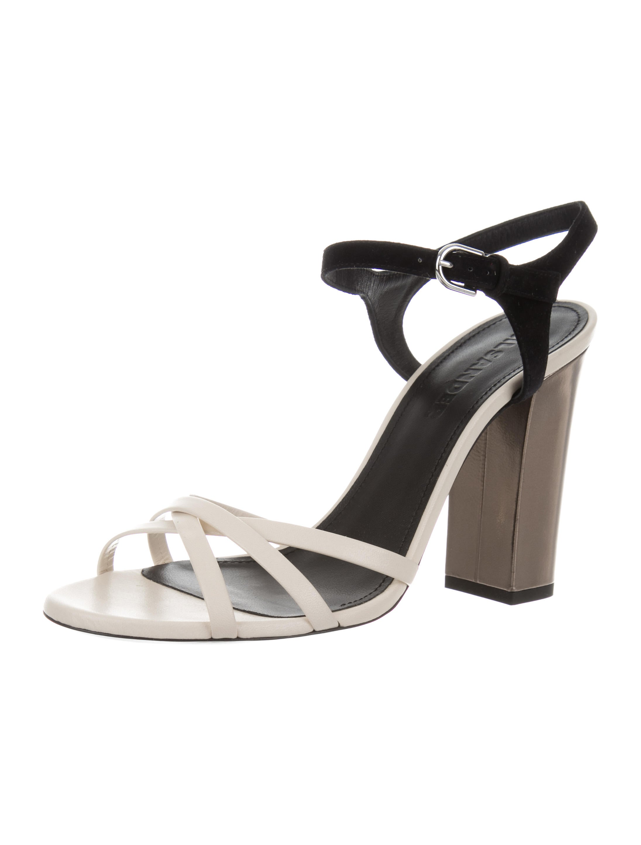 low price official site cheap price Jil Sander Leather Bicolor Sandals w/ Tags discount footlocker pictures GBqVTrg7
