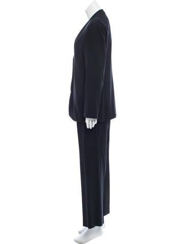 Wool Wide-Leg Pantsuit