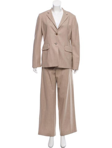Jil Sander Cashmere And Wool-Blend Pantsuit None