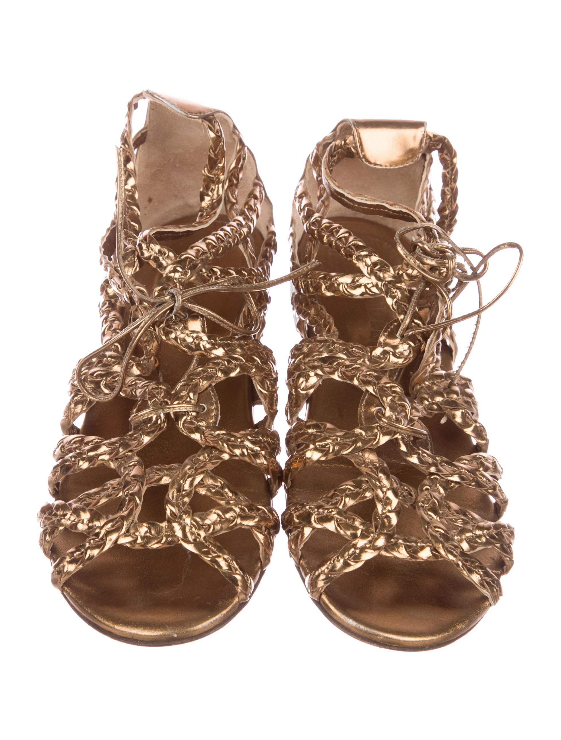 manchester great sale cheap price many kinds of for sale Jil Sander Braided Caged Sandals buy cheap online dHaaIi4aj
