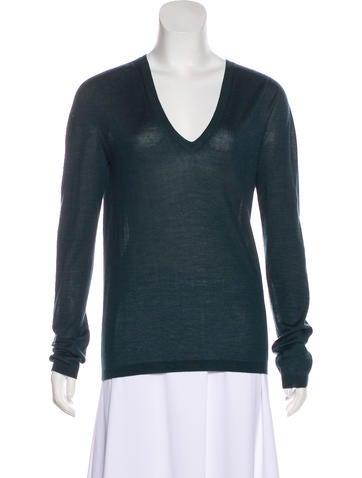 Jil Sander Cashmere V-Neck Sweater w/ Tags None
