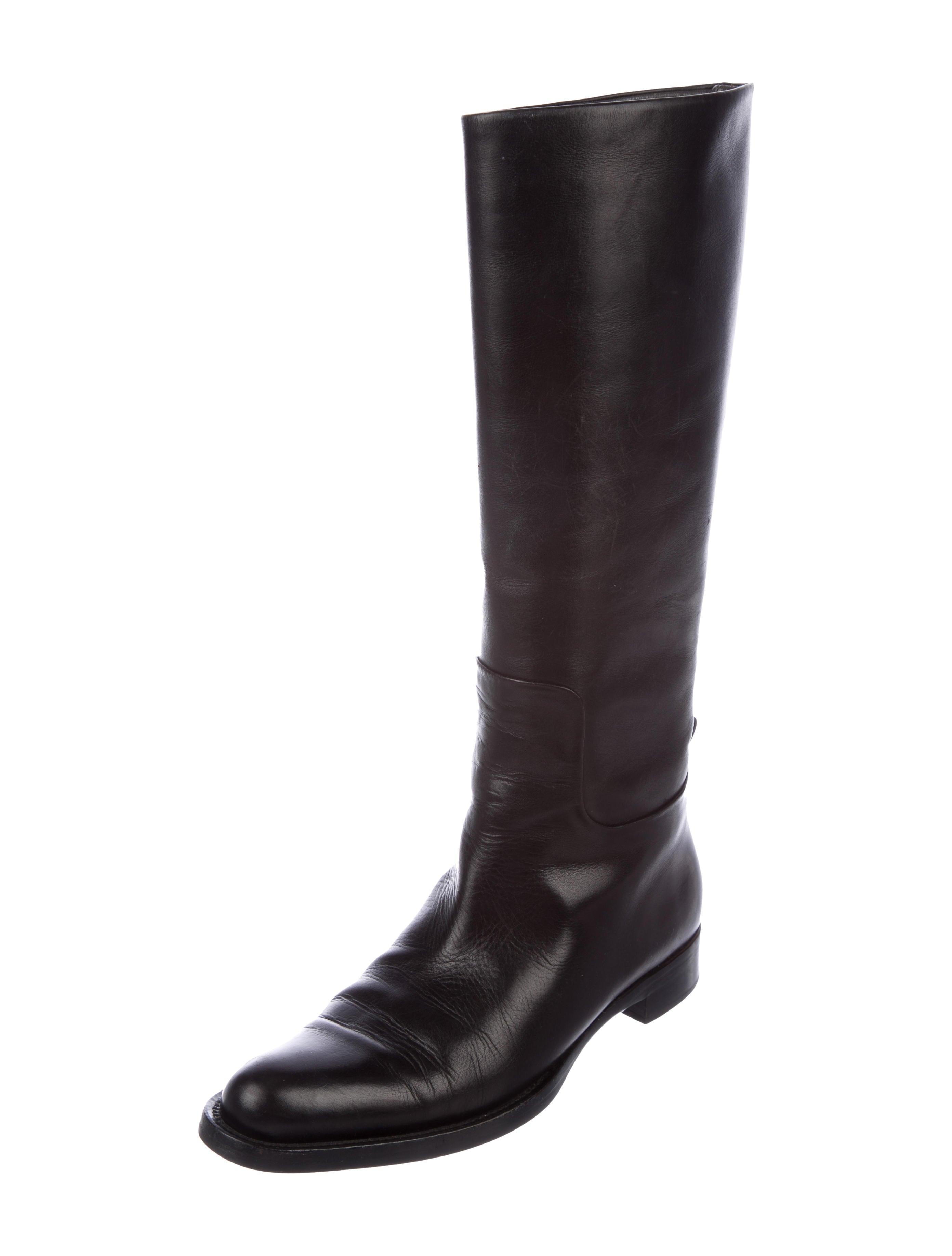 classic Jil Sander Leather Knee-High Boots w/ Tags official site online sale footlocker finishline rqzC4UVpcJ