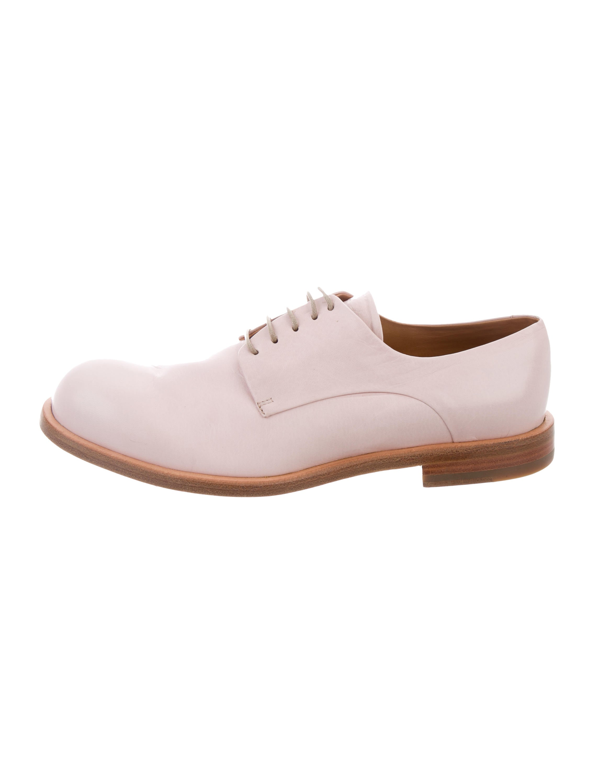 Jil Sander Leather Round-Toe Oxfords sneakernews cheap online clearance best prices clearance 2015 new sale cheapest price xPee7o