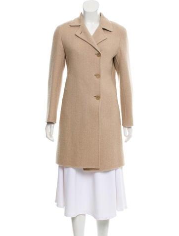 Jil Sander Herringbone Cashmere Coat None