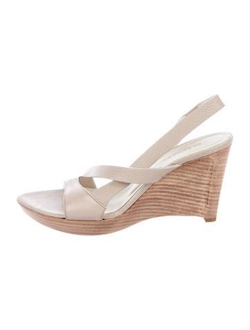 free shipping the cheapest discount wide range of Jil Sander Slingback Wedge Sandals ebay kwZjQ