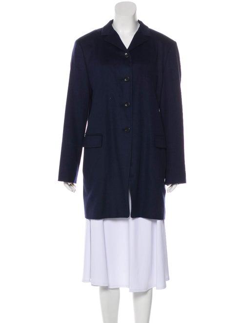 Jil Sander Camel Short Coat Navy