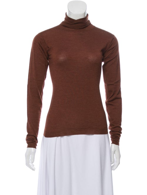 Jil Sander Turtleneck Long Sleeve Top Brown