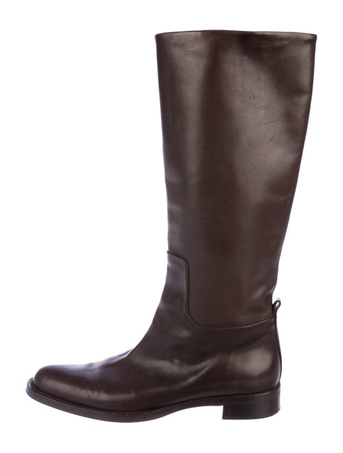 Jil Sander Leather Knee-High Boots brown