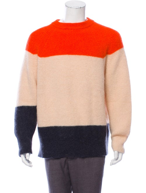 Jil Sander Mohair-Blend Crew Neck Sweater orange