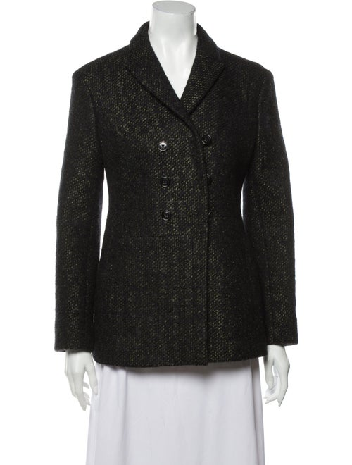 Jil Sander Tweed Pattern Blazer Black