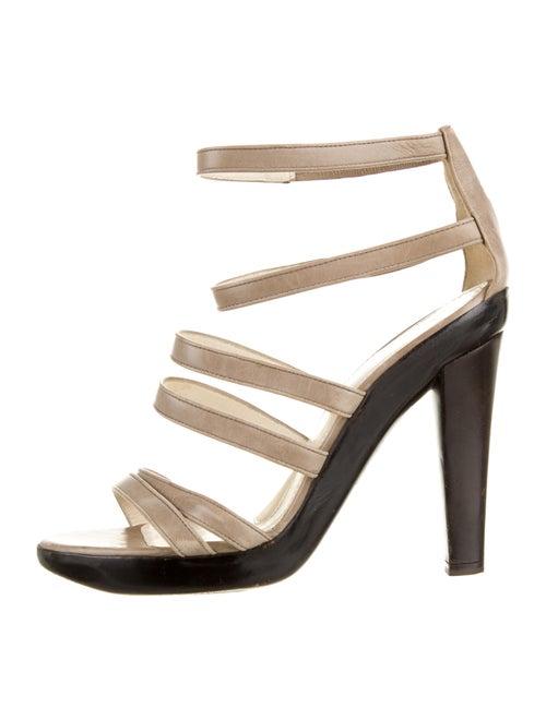 Jil Sander Leather Gladiator Sandals Grey