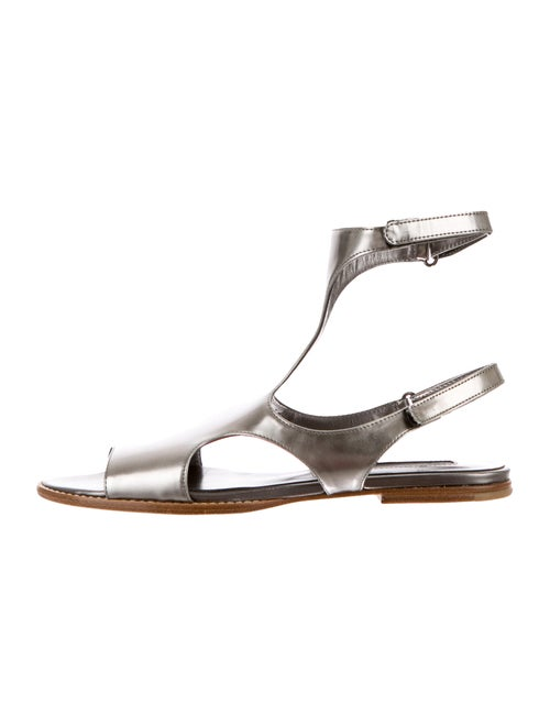 Jil Sander Metallic Leather Sandals Metallic