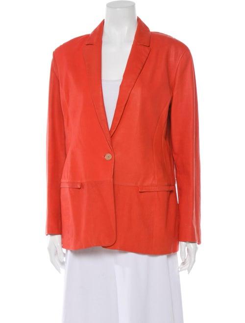 Jil Sander Leather Blazer Orange