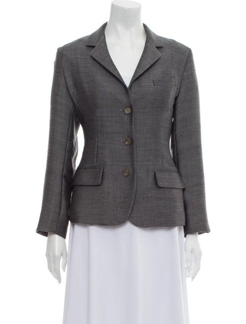 Jil Sander Wool Tweed Pattern Blazer Wool
