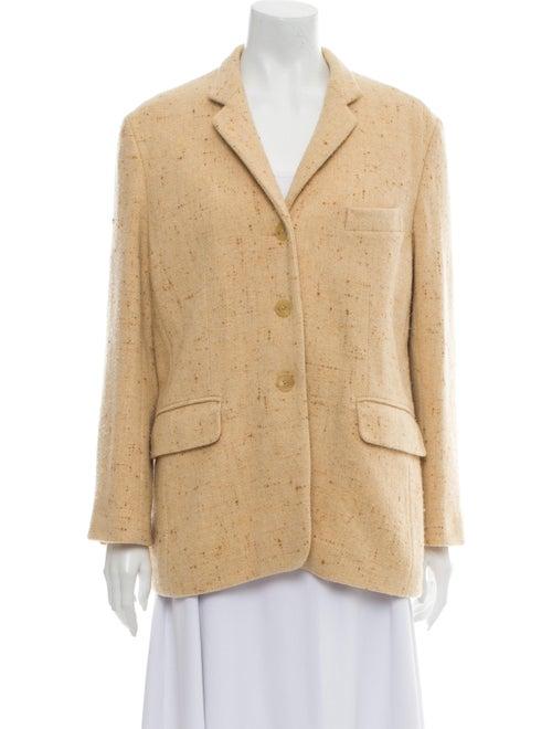 Jil Sander Tweed Pattern Blazer Brown