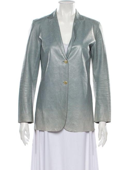 Jil Sander Leather Blazer Grey
