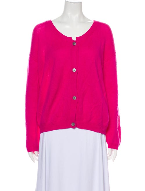 Jil Sander Cashmere Scoop Neck Sweater Pink