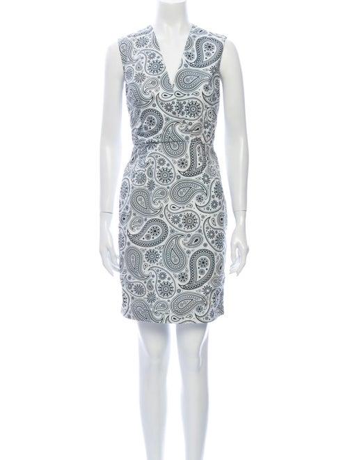 Jil Sander Paisley Print Mini Dress White - image 1