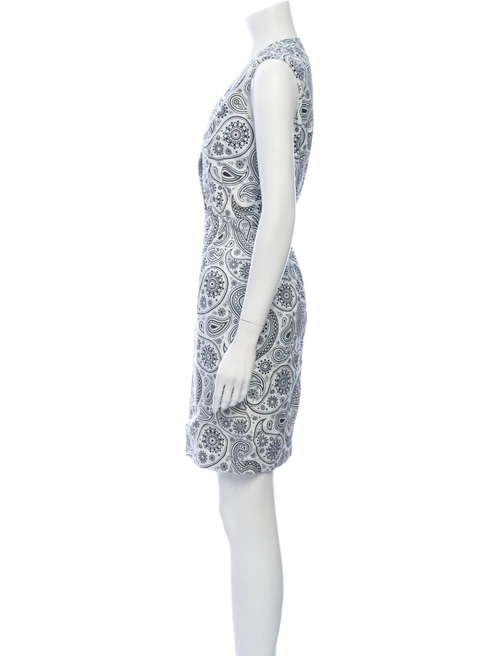 Jil Sander Paisley Print Mini Dress White - image 2