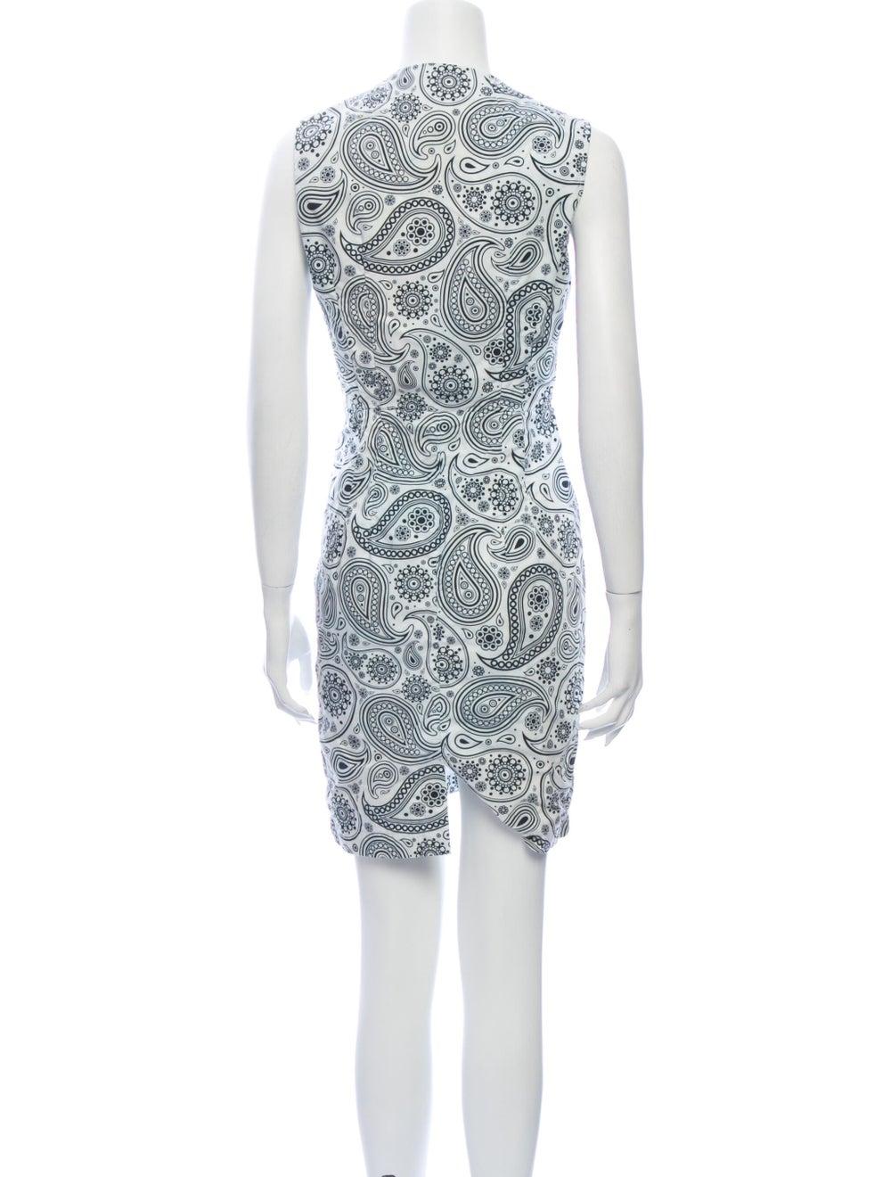 Jil Sander Paisley Print Mini Dress White - image 3