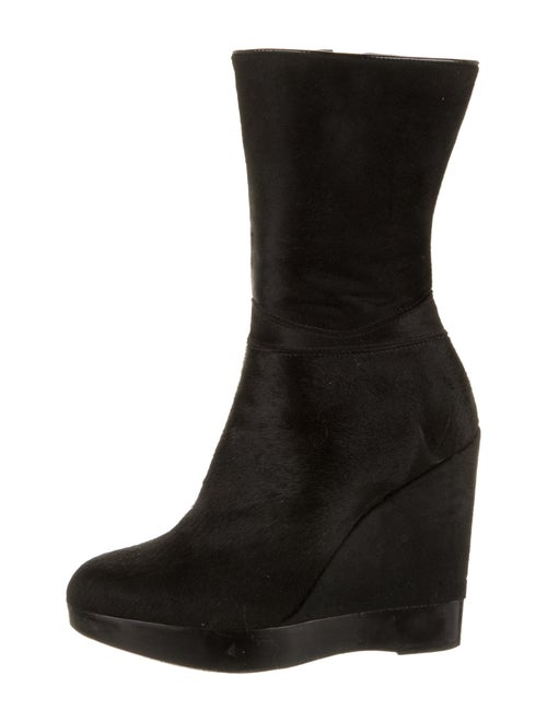 Jil Sander Ponyhair Boots Black