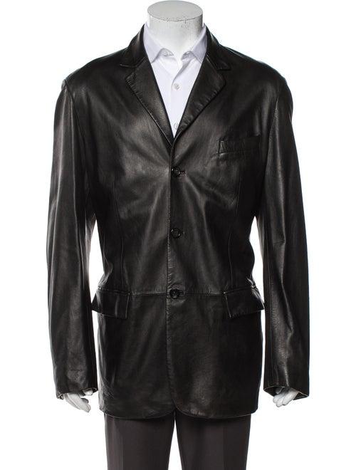 Jil Sander Leather Jacket Black