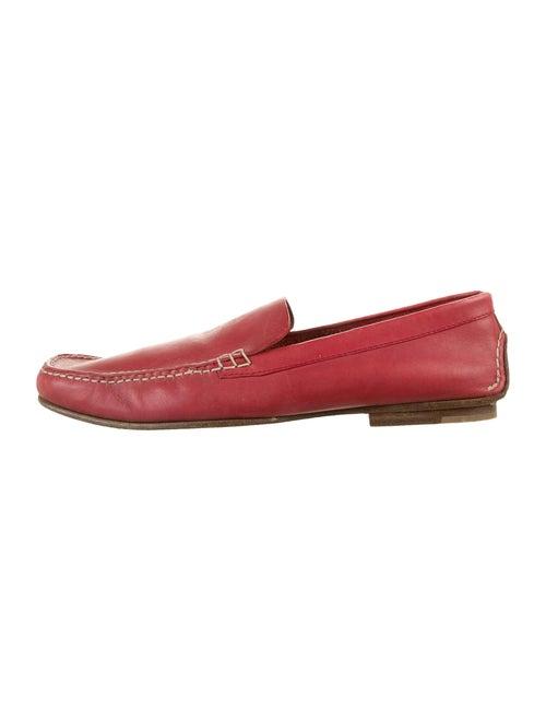 Jil Sander Leather Loafers Red