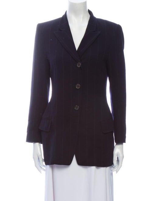 Jil Sander Wool Striped Blazer Wool