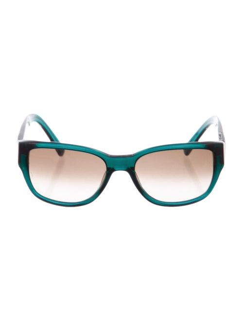 Jil Sander Tinted Square Sunglasses Green