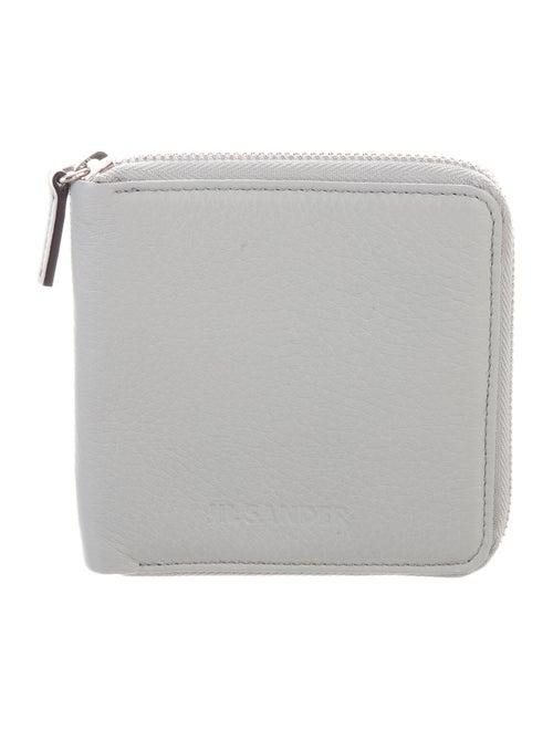 Jil Sander Leather Zip Wallet grey